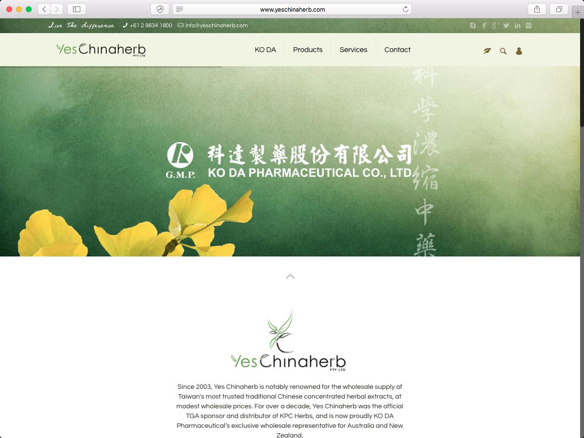 Yes Chinaherb PTY Ltd.